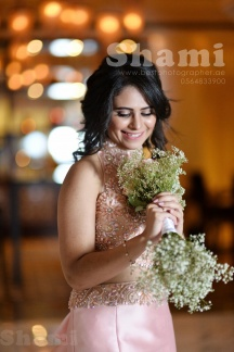 Bride Smile Pose with white Bokeh at Park Hayyat hotel Creek Dubai
